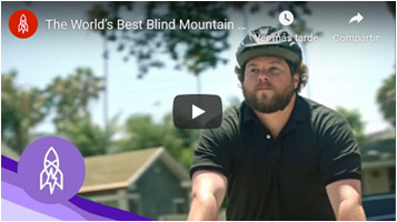 Watch the World's best blind mountain biker video